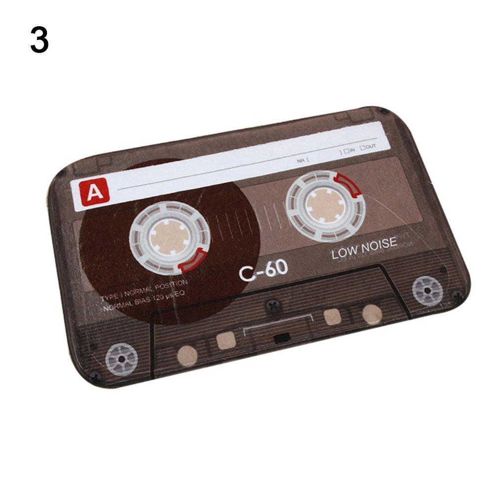 VelvxKl Tappeto durevole Tappeto Retro Creativo Cassette antiscivolo Zerbino Cucina Bagno Ingresso Tappetino di benvenuto 40 x 60 cm 1#