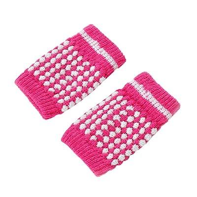 Kinrui Girl Winter Gloves Kniting Wrist Thick Warm Fingerless Hand