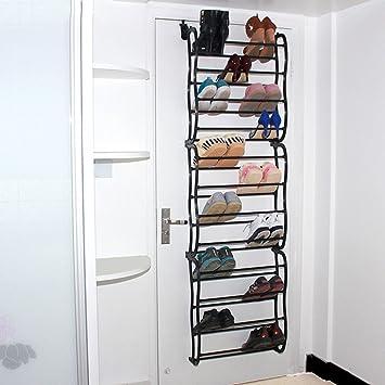 6bcafa873f229 Vinteky Rangement des Chaussures transparent à suspendre derrière de Porte  Organiseur de rangement à chaussures 36