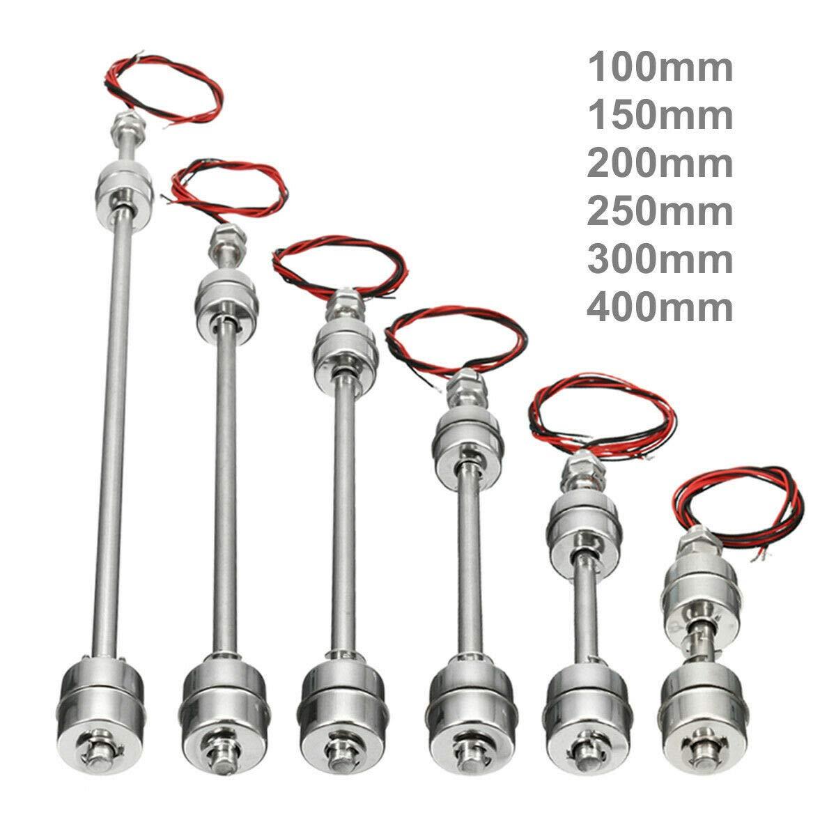 Montaje Vertical Acero Inoxidable Sensor de Nivel de Agua 1 Interruptor Flotante Interruptor de Flotador es una Estructura Simple para detectar el Nivel de l/íquido en un dep/ósito.
