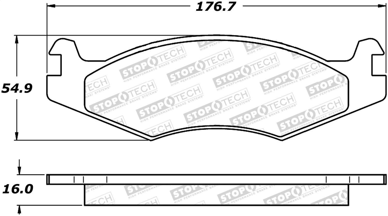 StopTech 308.06510 Street Brake Pads 4 Pack