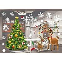 Etiqueta de la ventana de Navidad PVC Pegatinas de colores de Santa Vinilos de Vinilo RemovibleVacaciones de Navidad tamaño del patrón de decoración: 55 X 38 cm / 21.6 X 15 '' (801)