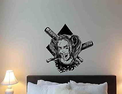 Amazoncom Harley Quinn Wall Decal Good Night Baseball Bat Girl