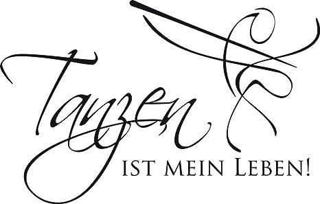 GRAZDesign Wandsticker Wanddeko Jugendzimmer Ballett Schule -  Wandgestaltung Wandaufkleber Musik Tanzen ist Mein Leben - Wandtattoo  Kinderzimmer ...