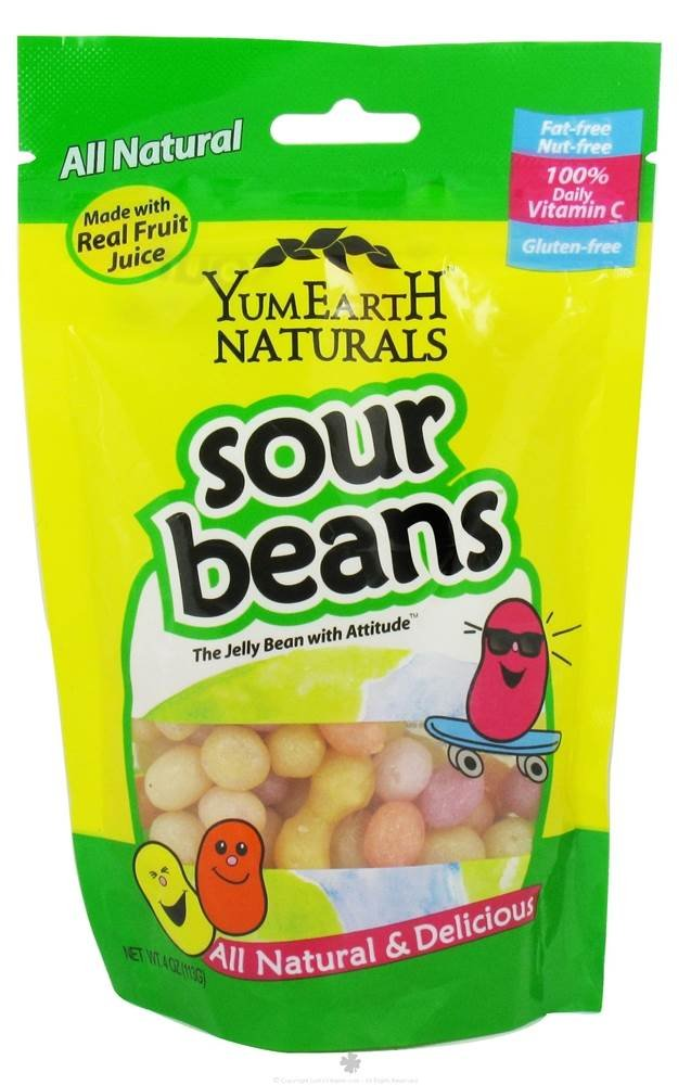 YumEarth - All Natural Gluten-Free Sour Jelly Beans - 4 oz