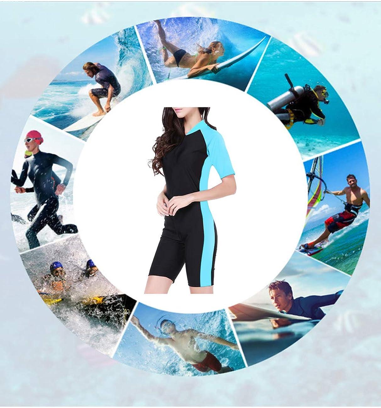 besbomig Ganzk/örper Badeanzug Damen Wassersport Einteiler Schwimmanzug Surfanzug Short Schnorcheln Strand UV Schutz Overall Tauchanzug【Nicht die Neopren】