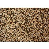 "Leopard Print Extra High Pile Area Rug 5' 3""x7' 6"""