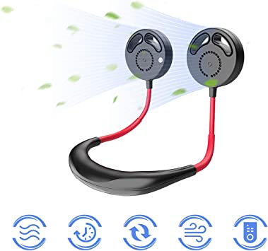 Ventilador de Cuello Colgante, Mini USB Ventilador sin Cuchillas ...