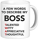 A Few Words To Describe My Boss Mug Funny Novelty Mug Cup Gift Office Secret Santa