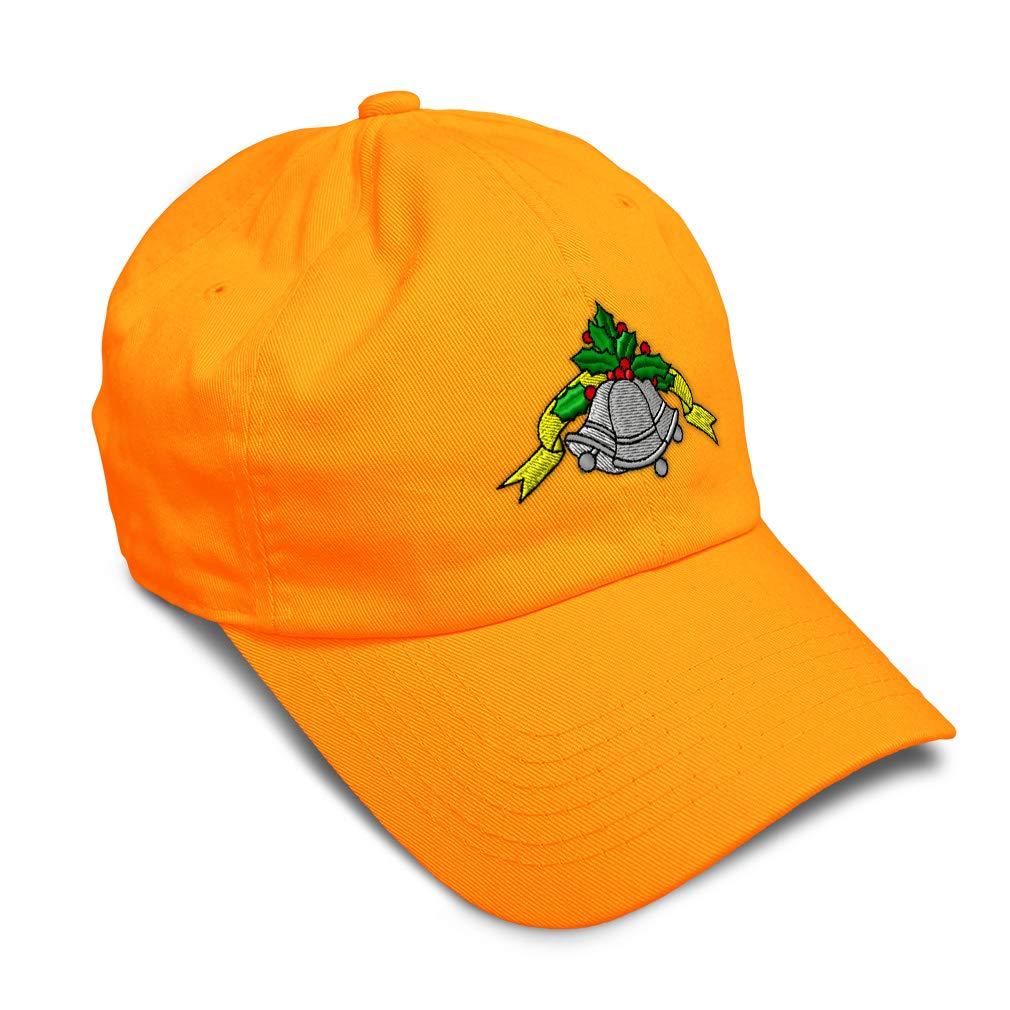 Custom Soft Baseball Cap Christmas Bells Embroidery Dad Hats for Men /& Women