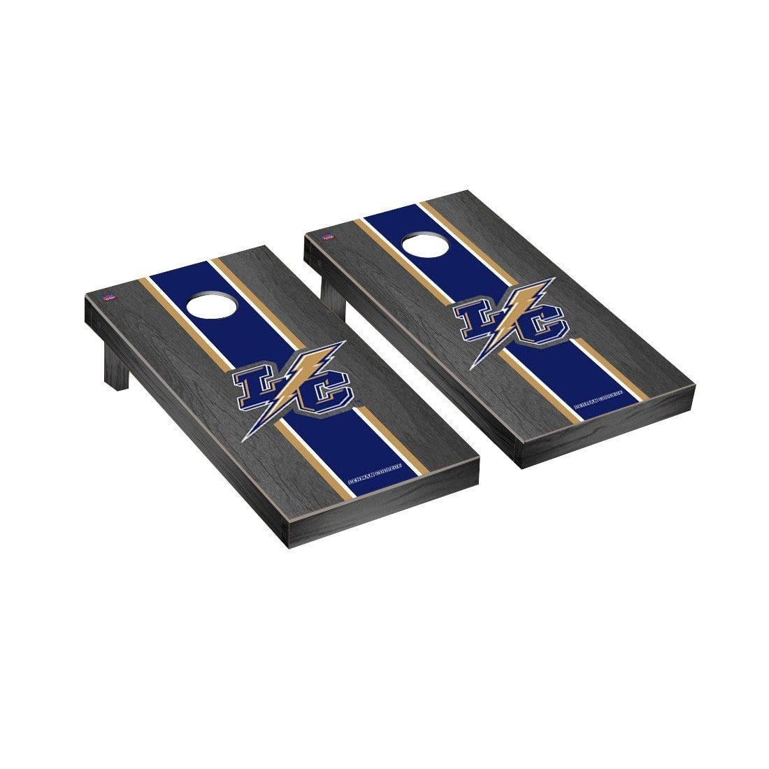Victory Tailgate Lehman Lightning Regulation Cornhole Game Set Onyx Stained Stripe Version