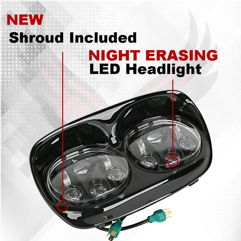 Eagle Lights Road Glide Projection Led Black Headlight 2007 Fltr Harley Wiring Diagram Kit For 2004 2013 Complete Comes With All Hardware Dual