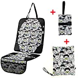 Taodou Diaper Changing Pad Stroller Organizer Car Seat Protector Set of 3 Black and White