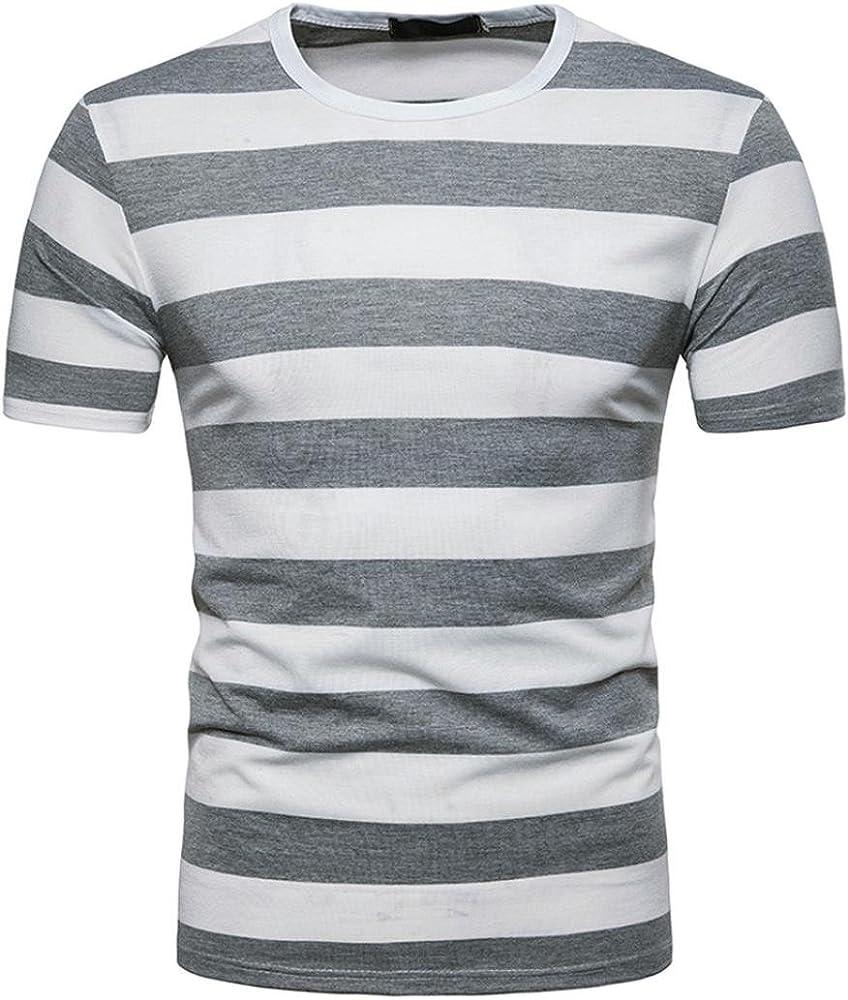 FAMILIZO T Shirts For Men Blusa Hombre Blanca Camisetas Manga Corta Hombre Moda Camisetas Hombre Algodón Camisetas Hombre Verano Blusa Hombre Manga Corta Tops Camisetas Hombre Rayas (S, Gris): Amazon.es: Ropa y
