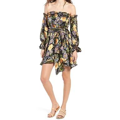 1272d6b7b6 Amazon.com: for Love and Lemons Women's Luciana Strapless Dress Black  Floral Dress: Clothing
