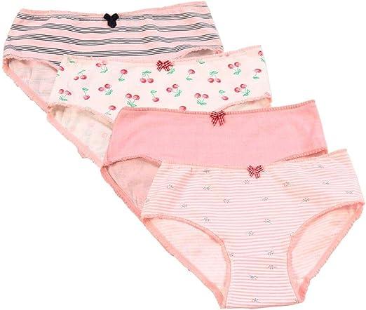Teens Girls Underwear Children Briefs Kids Soft Intimates Low Waist Panties Set