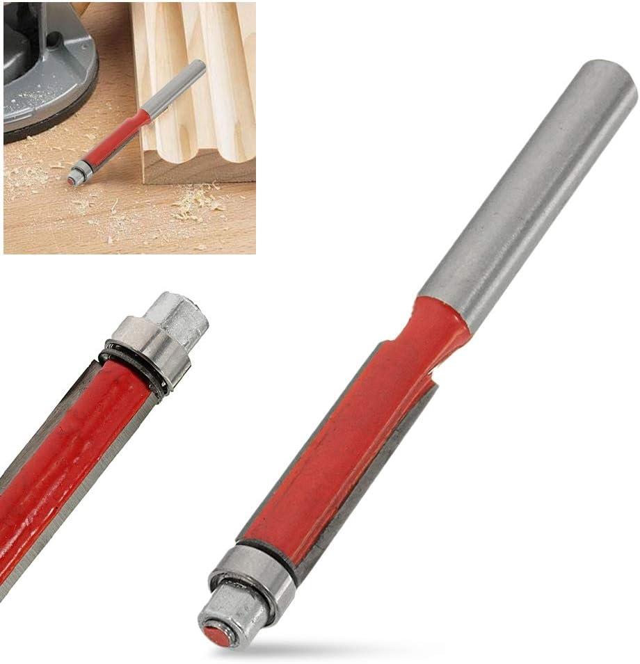 Shixindianzi Drill Bits 1 Pcs Flush Trim Router Bit 1//4 Shank Carpentry Flush Trim