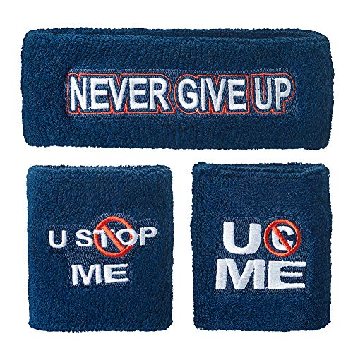 WWE John Cena U Cant Stop Me Sweatband Set Multi -