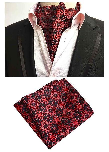 Amazoncom Mohslee Mens 100 Silk Cravat Tie Woven Wedding Ascot