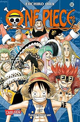 One Piece, Band 51: Die elf Supernovae Taschenbuch – 31. Juli 2009 Eiichiro Oda Antje Bockel Carlsen 3551758301