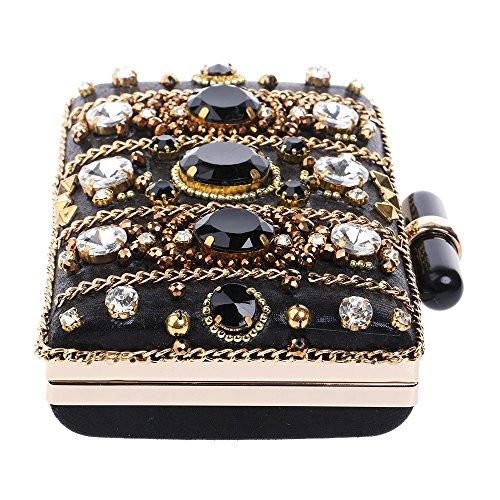 frizioni ricamo sera donne diamanti giorno perline sera per borse di tracolla KYS signora borse catena a piccolo SwFqTWTf