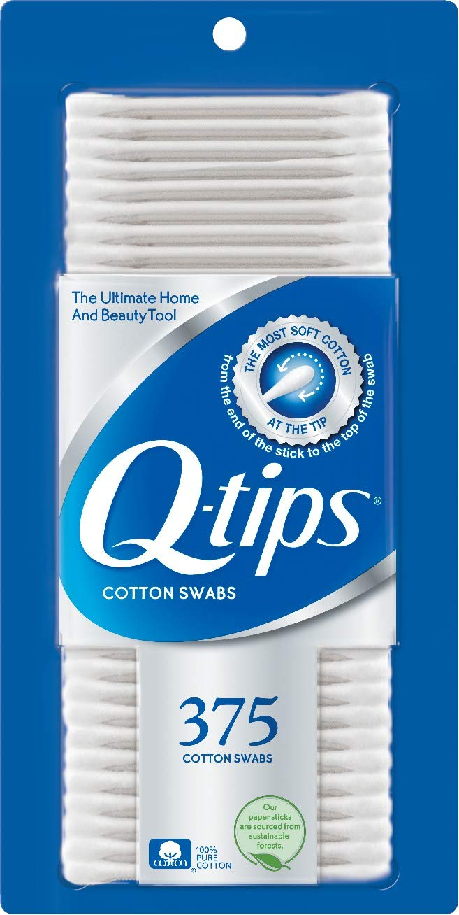 Q-tips Cotton Swabs For Hygiene and Beauty Care Original Cotton Swab Made With 100% Cotton 375 Count