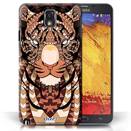 Etui / Coque pour Samsung Galaxy Note 3 / Tigre-Orange conception / Collection de Motif Animaux Aztec