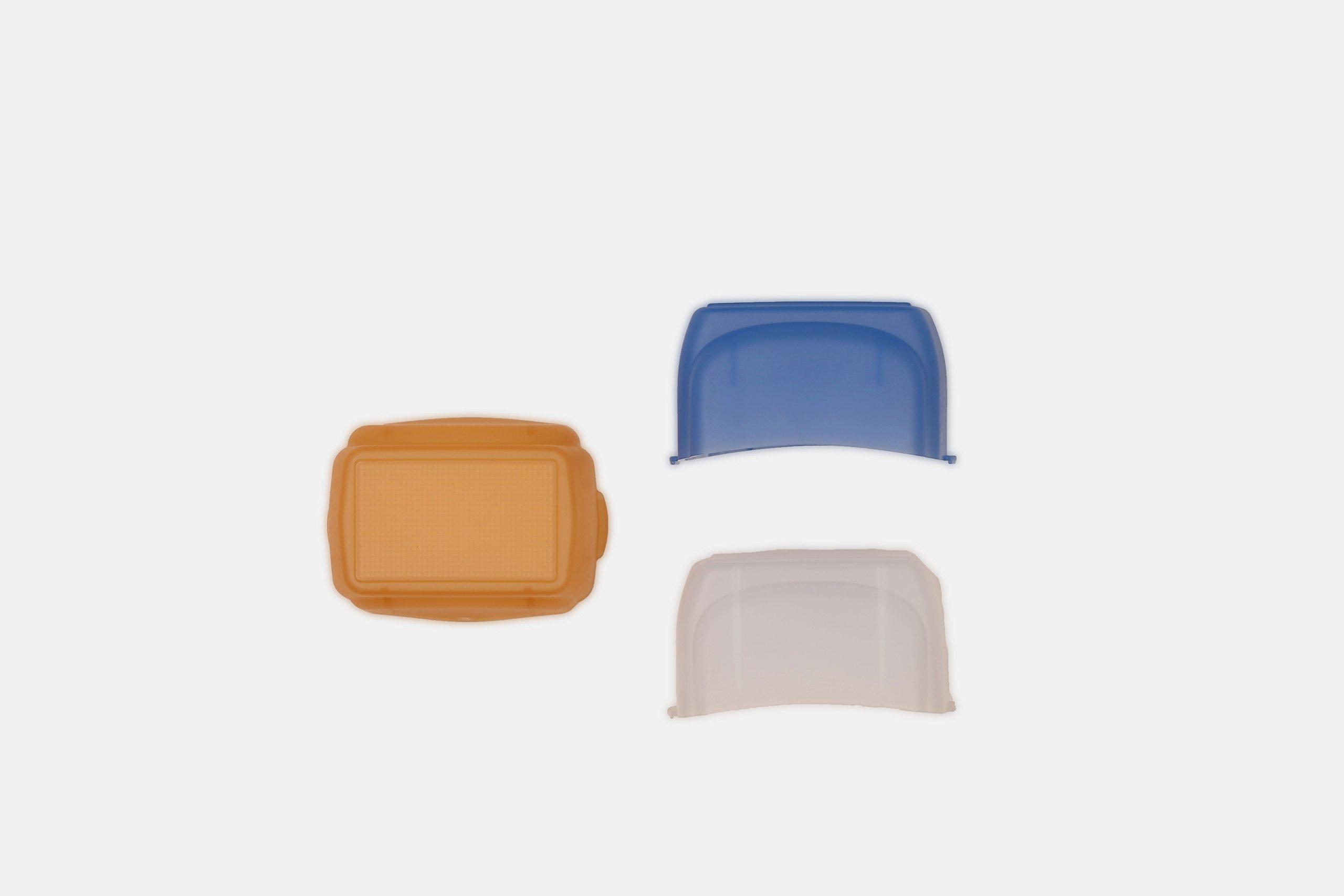Cactus Color Diffusion Cap Kit DC-60 Color Diffusers, White/Blue/Orange