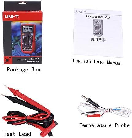 Uni T Ut890c True Rms Multimeter Lcd Digitalanzeige Elektrowerkzeug Amperemeter Multimeter Baumarkt