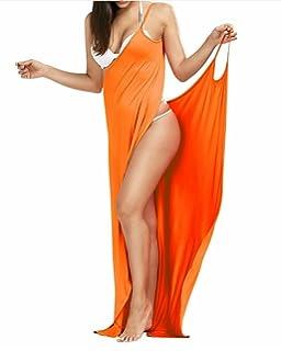 dca1a04149 Outgoings Women s Bikini Cover Up Spaghetti Strap Beach Dress Wrap Swimwear  Swimsuit