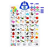 Fun and Educational talking poster;( Push-To-Talk for kids and adults learning Chinese Hanyu Pinyin) 24.4 x 16.5 inches learning characters chart