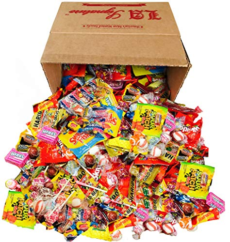 HUGE Assorted Candy PARTY MIX BOX 6.25 LBS/100 OZ Over 250 Individually Wrapped Candies like Skittles Lifesavers Haribo Starburst Fireballs Jolly Ranchers Swedish Fish Sour Patch Dubble Bubble & MORE