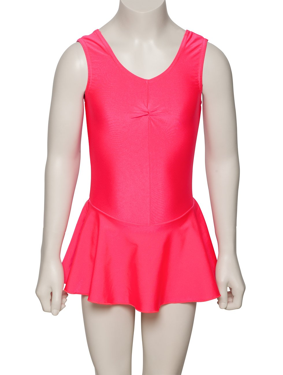 KDR005 Girls Coral Lycra Ballet Dance Gym Leotard With Skirt Outfit By Katz Dancewear