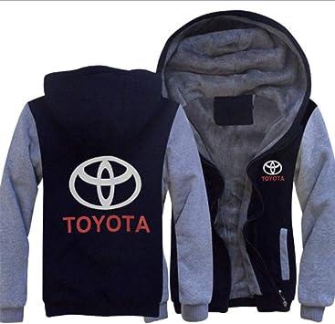 男性のパーカーフルジップトヨタは冬に適しパディングビロードパーカーコートフード付きフリースを、印刷します