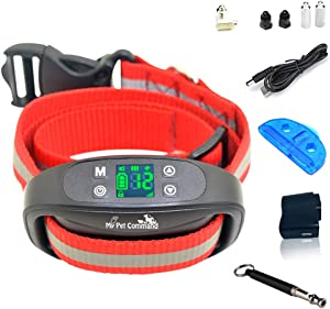 My Pet Command Wireless Electric Fence Safe Dog Containment System GPS Boundary Easy Setup Outdoor use Waterproof and Rechargeable Collars Bonus Training Whistle
