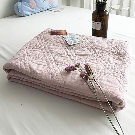 LHFJ Manta de Verano Manta térmica 100% algodón Manta de Tiro de algodón Lavado Estilo japonés Manta Transpirable Suave Ropa de Cama Fina de Verano, 55 * 74 ,Pink: Amazon.es: Hogar