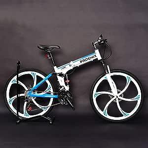 Bicicleta de montaña Plegable de 26 Pulgadas, Marco de suspensión ...