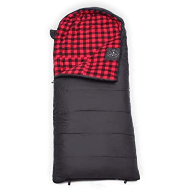 All Season Hooded XL Sleeping Bag with Compression Sack - Perfect Compression Sleeping Bag for Backpacking & Camping - Big and Tall Sleeping Bag fits Adults up to 6'6 - Waterproof Large Sleeping Bag