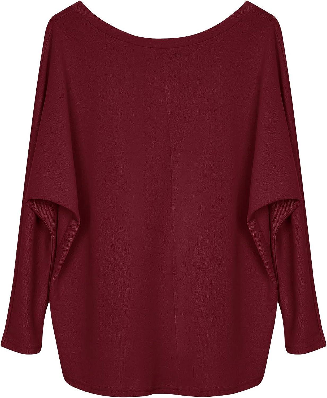 Yidarton Frauen Asymmetrischer Pullover Damen Langarm Pullover Pulli Strickjacke Oversized Baggy Lose Jumper T-Shirt Tops Bluse