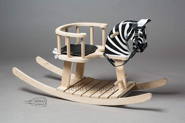 1st Birthday Gift Wooden rocking zebra Christmas Rocking Zebra Secret Zebra Wooden Zebra Baby Shower gift Best Christmas Gift for Baby Royal Toy