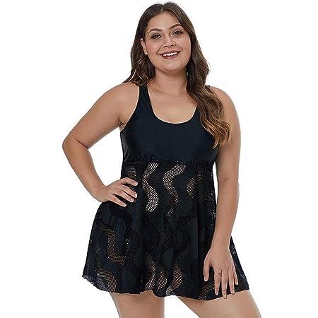 Trajes de baño Conjuntos de Mujer Malla Negra con Falda Sexy for ...