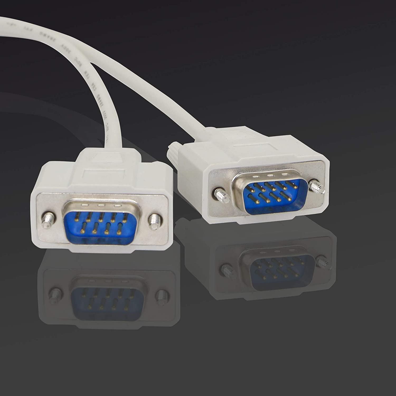 30 cm DB9 Y-Splitterkabel DB9 9 Pin 1 Buchse Ale auf 2 Stecker Rs232 Serieller Splitter-Adapter gerades Kabel Kangping zum Verbinden verschiedener serieller Schnittstellen-Ger/äte