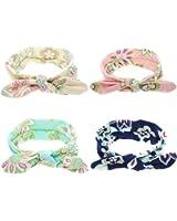 Baby Girl Headband Bunny Ears Bow Girl's Head Wrap Turban Baby Headband Multi-colors