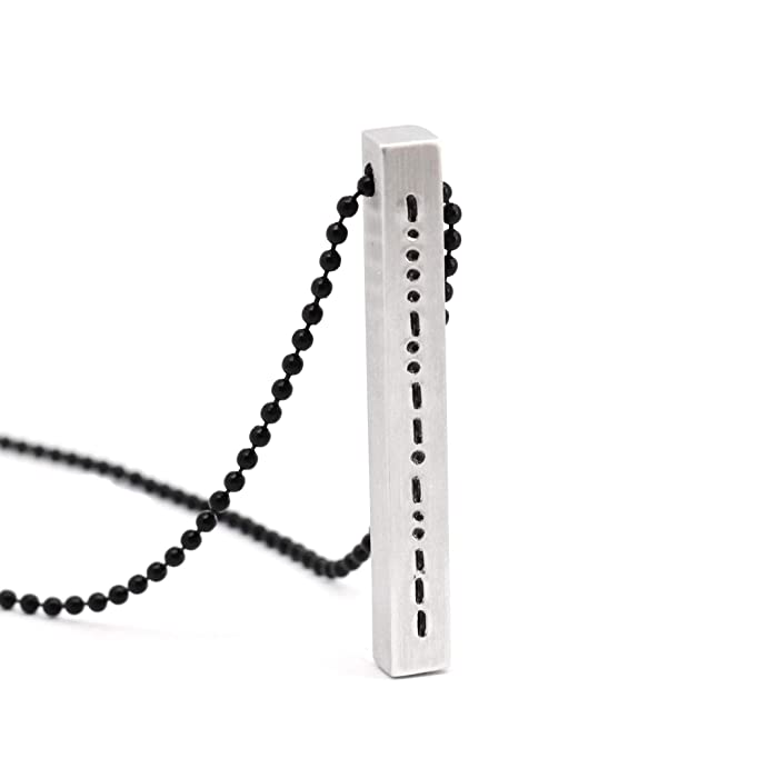 The Best Dot And Dash Necklace Morse Code