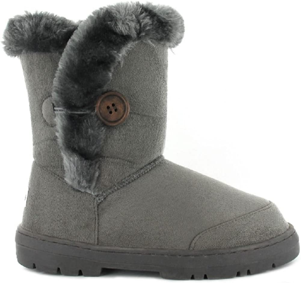 Girls Kids Winter Boot Comfortable Faux Fur lined Size 4 5 6 7 8 9 10 11 12 13 1