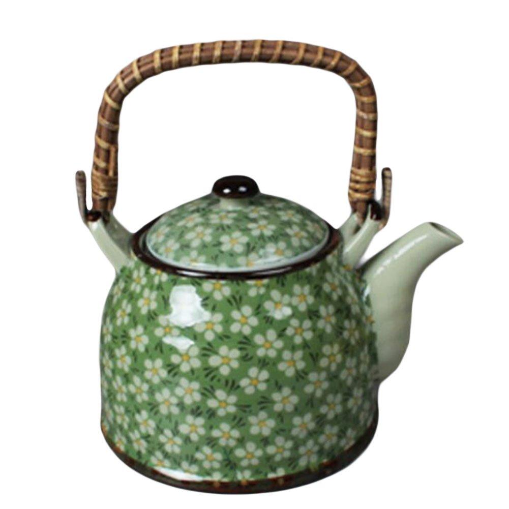 Japanese Style Porcelaine Teapot Avec filtre Plum Blossom 950 ML-Vert Black Temptation
