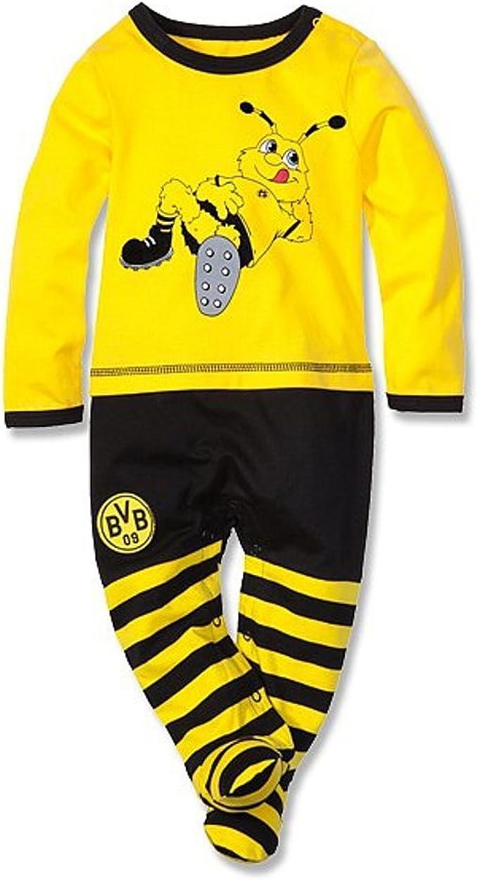 gelb Borussia Dortmund Baby Body Plus Lesezeichen I Love Dortmund Gr/ö/ßen BVB 09 Emma Langarm Wickelbody div
