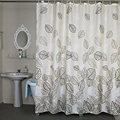 Shower Curtain Extra Wide 108 X 78 Inches Set With Rings Welwo Mildew Resistant