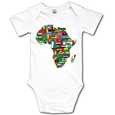 accae60c53cf9 Amazon.com: WUGOU Baby Bodysuit African American Flag Map Short ...