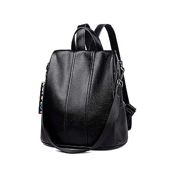 LISAWEI Mochila para Damas Mochilas de Gran Capacidad para Viajes de Moda Minimalista Tres Colores 31x16x33CM (Color : BlackA, Tamaño : XXL): Amazon.es: ...